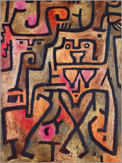 Selvklebende plakat  Forest witches - Paul Klee