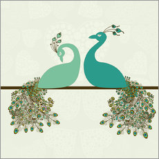 Galleriprint  two peacocks