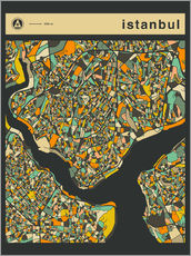 Galleriprint  ISTANBUL MAP - Jazzberry Blue