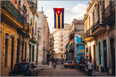 Galleriprint  A Cuban flag with holes - Julian Peters
