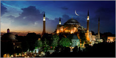 Galleriprint  View of Hagia Sophia after sunset