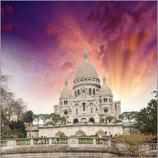 Galleriprint  Sacred Heart Cathedral in Montmartre