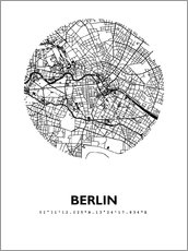 Galleriprint  City map of Berlin - 44spaces