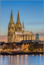 Galleriprint  The Cologne Cathedral in the evening - Michael Valjak