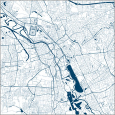 Galleriprint  City map of Hannover - 44spaces