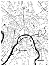 Galleriprint  Moscow Russia Map - Main Street Maps