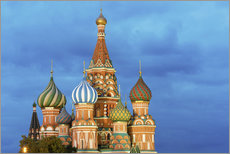 Selvklebende plakat  Brilliant St. Basil's Cathedral in Moscow - Miles Ertman