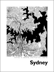 Galleriprint  City map of Sydney - 44spaces
