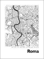 Selvklebende plakat  Map of Rome - 44spaces