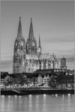 Galleriprint  Cologne Cathedral black-and-white - Michael Valjak