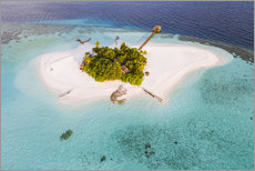 Akrylbilde  Aerial view of dream island in the Maldives - Matteo Colombo