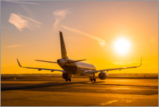 Aluminiumsbilde  Airbus A320 NEO in the morning - HADYPHOTO