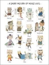 Galleriprint  A short history of House Cats - Judith Loske