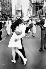 Aluminiumsbilde  V-Day in Times Square (The Kiss) - Celebrity Collection