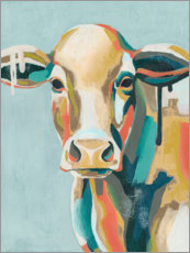 Plakat Colorful cow i