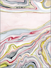 Plakat Watercolor marbled I