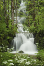 Plakat Waterfall in the forest, France