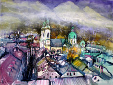 Plakat View to Innsbruck Cathedral