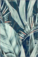 Galleriprint  Palmblader collage - Art Couture
