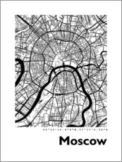 Lerretsbilde  City map of Moscow - 44spaces