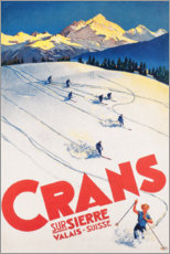 Akrylbilde  Crans-Montana (French) - Travel Collection