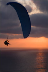 Plakat Paraglider over the sea I