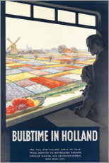 Akrylbilde  Tulip time in Holland (English) - Travel Collection