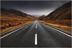 Lerretsbilde  Endless road in the highlands of New Zealand - The Wandering Soul