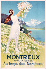 Akrylbilde  Montreux (French) - Travel Collection