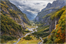 Akrylbilde  Remote valley in the Alps - The Wandering Soul