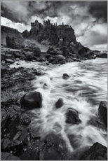 Galleriprint  Gloomy clouds over the castle ruins - The Wandering Soul