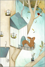 Selvklebende plakat  Squirrell in the Tree - Judith Loske