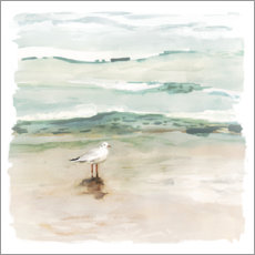 Galleriprint  Seagull on the beach I - Victoria Borges
