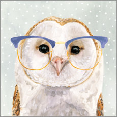 Galleriprint  Owl with glasses - Victoria Borges