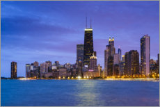 Plakat Chicago by night