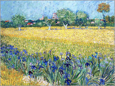 Galleriprint  View of Arles with irises in the foreground - Vincent van Gogh