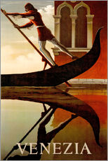 Galleriprint  Italy - Venice gondolier - Travel Collection