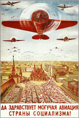 Selvklebende plakat  Aircraft parade on Moscow - Advertising Collection