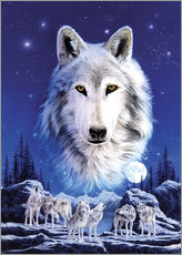 Galleriprint  Night of the wolves - Robin Koni