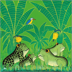 Galleriprint  Frogs in the swamp - Issa