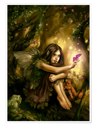 Plakat Elf with butterfly