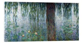Akrylbilde  Waterlilies: Morning with Weeping Willows (detail) - Claude Monet