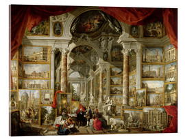 Akrylbilde  Gallery with pictures of Modern Rome - Giovanni Paolo Pannini