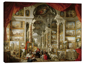 Lerretsbilde  Gallery with pictures of Modern Rome - Giovanni Paolo Pannini