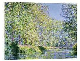 Akrylbilde  Bend in the Epte River near Giverny - Claude Monet