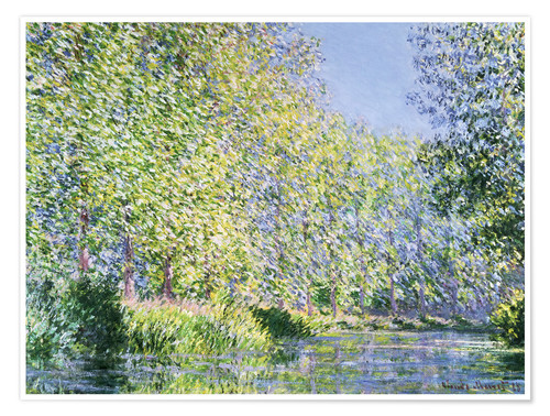 Plakat Bend in the Epte River near Giverny