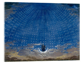 Akrylbilde  The Hall of Stars in the Palace of the Queen of the Night - Karl Friedrich Schinkel