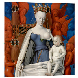 Akrylbilde  Virgin and Child Surrounded by Angels - Jean Fouquet