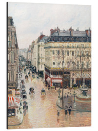 Aluminiumsbilde  The Rue Saint-Honoré in the afternoon - Camille Pissarro