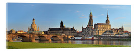 Akrylbilde  Dresden Canaletto view - FineArt Panorama